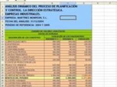 Análisis dinámico del proceso de planificación y control. La dirección estratégica. empresas Industr