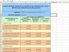 Estados Financieros de un contrato de construcción.